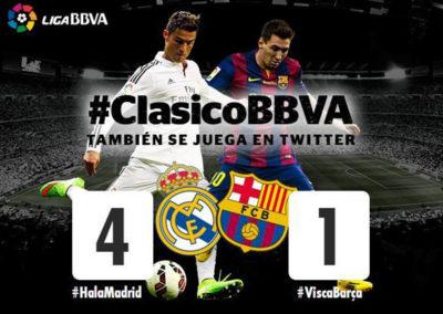 El Clásico hashtag battle
