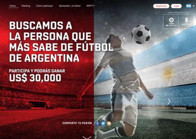 Santander Football contest