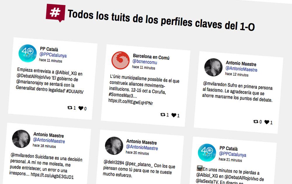 TweetBinder referendum Cataluña
